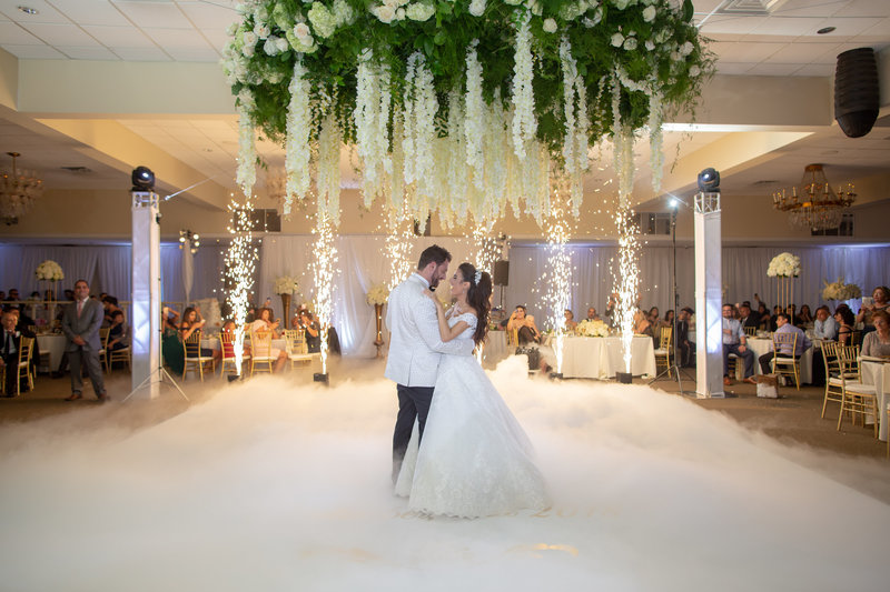 Floral chandelier luxury wedding Phildelphia