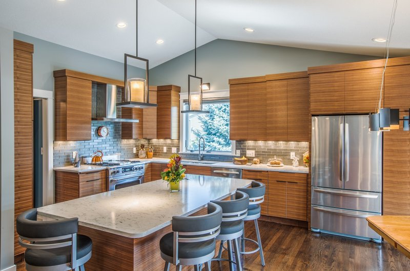 kitchen remodeling walnut cabinetry