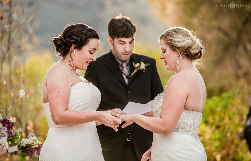 Pretty Outdoor Autumn Wedding at The Golden Hotel in Colorado