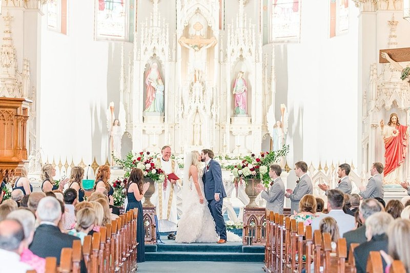 Wedding Ceremony at St Marys catholic church in Fredericksburg Texas and reception at National Museum of the Pacific war Nimitz in fredericksburg Texas Wedding Venue photos by Allison Jeffers Photography_0031