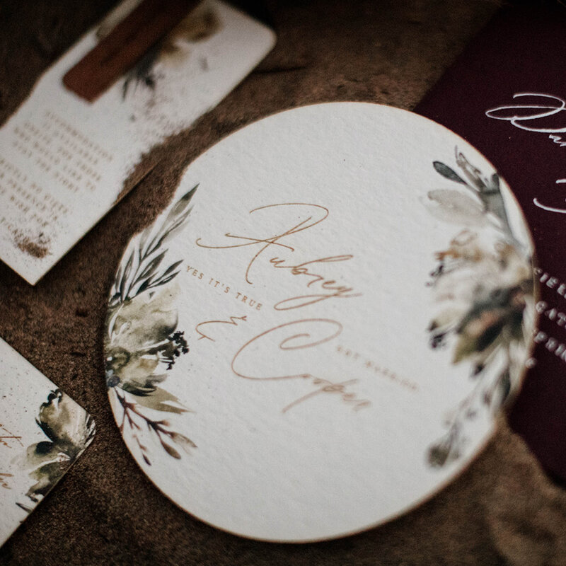 artisan wedding invitations