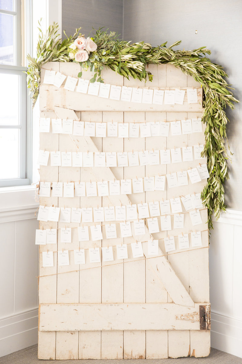 Rustic seating card ideas