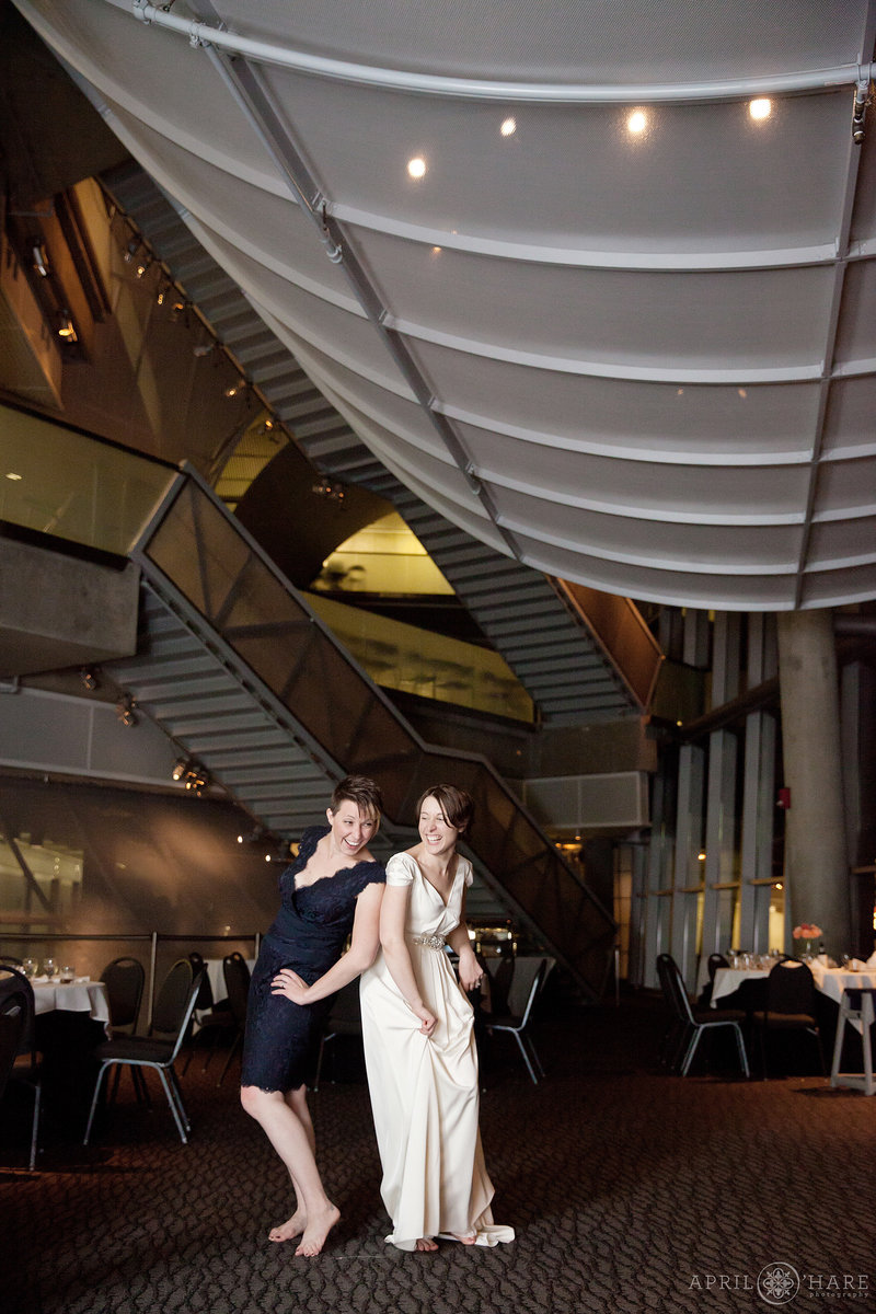 Schlessman Lobby Wedding Reception at the Denver Museum of Nature and Science