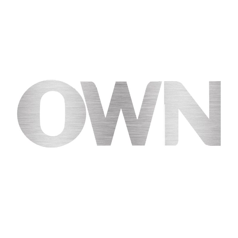 OWN tv logo SILVER