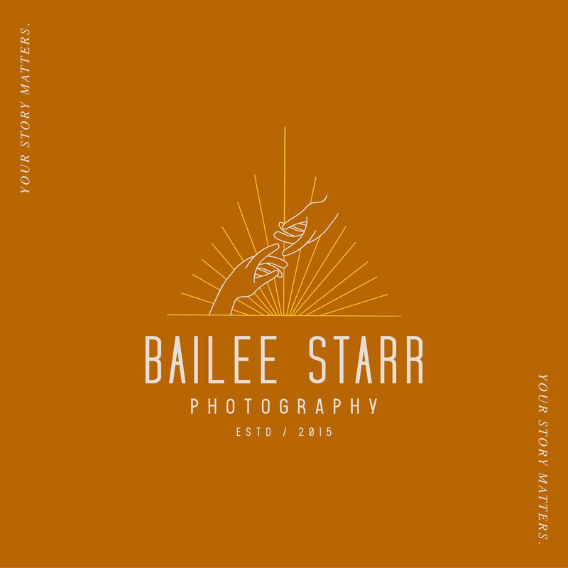 Bailee Starr Photography Fort Worth Weddings Brand and Logo Design