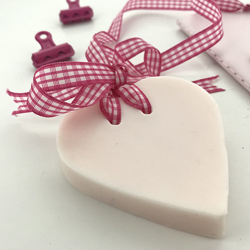 melt and pour rose soap heart
