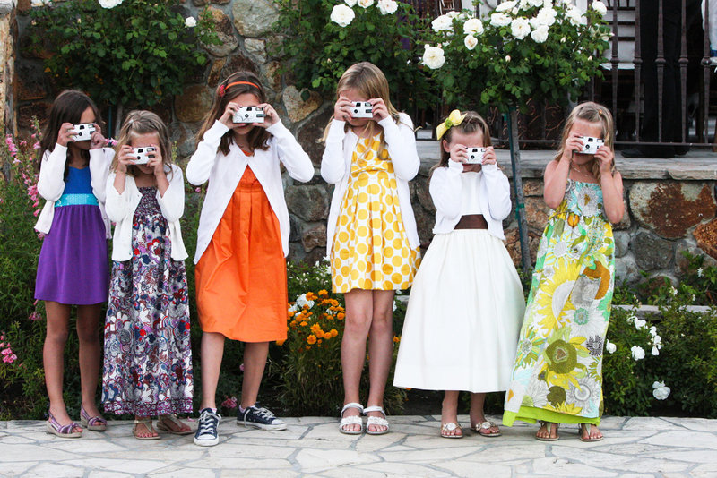 flower girls at a wedding, wedding photography