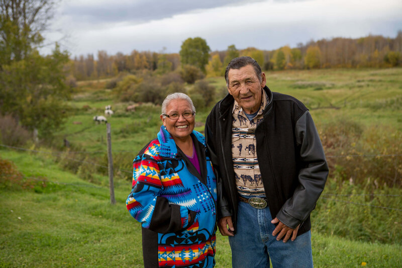 indigenous couple on their farm