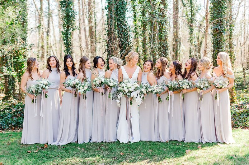 bridal party by Knoxville Wedding Photographer, Amanda May Photos