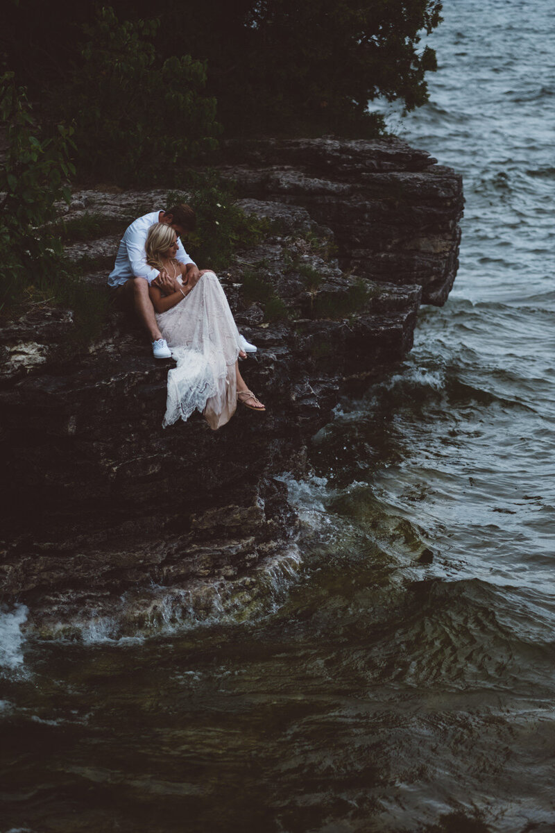 Cave Point Door County Elopement With Friends and Family Lake Michigan Wedding Ope Visuals Company (95)
