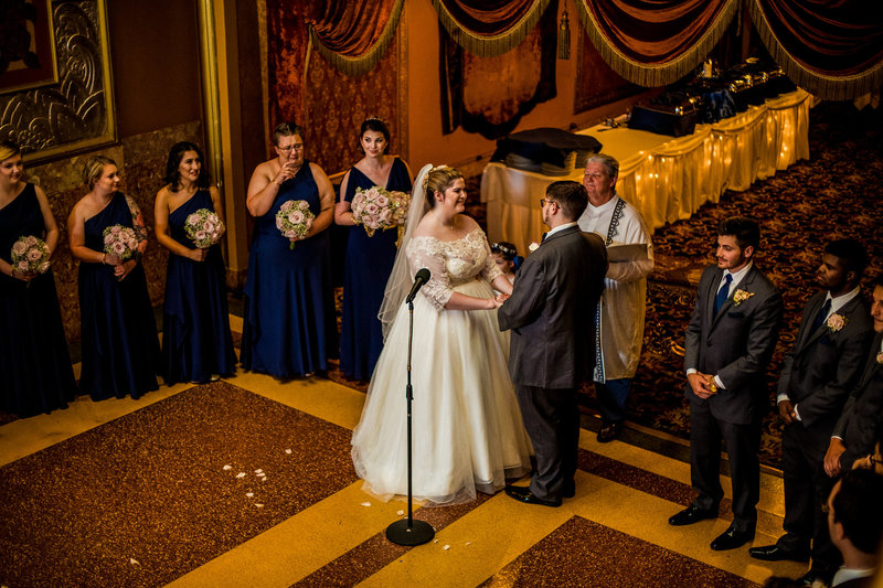 Wedding ceremony at the Warner Theatre
