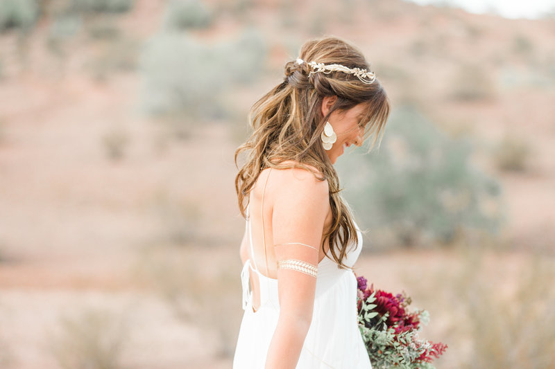 Bohemian Bride in Scottsdale Arizona