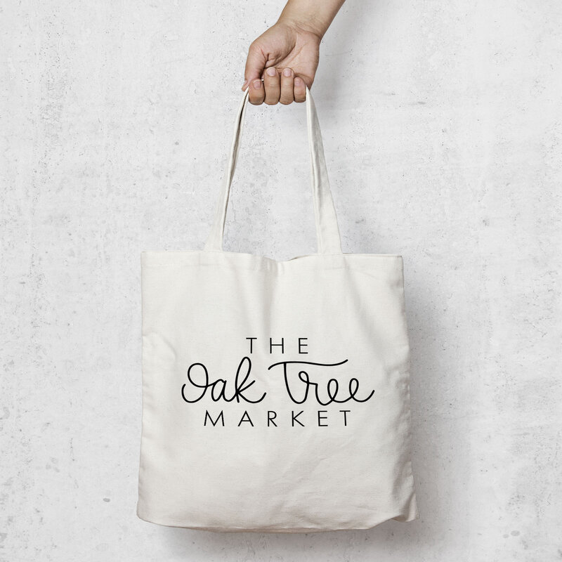 market bag with logo designed by nancy ingersoll