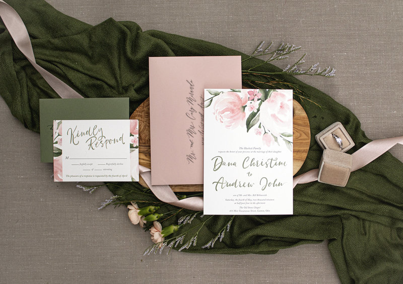 4 Piece Suite of Peony Bliss from Brittney Nichole Designs.