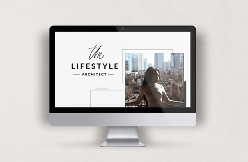 the lifestyle architect mockup