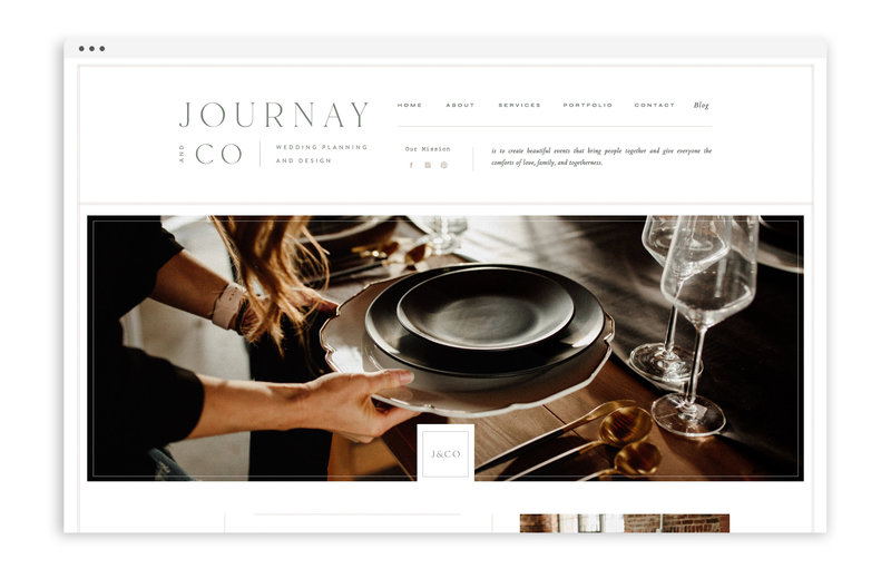 Journay and Co - Formerly Blush Events - Custom Brand and Showit Web Design by With Grace and Gold - Showit Theme, Showit Themes, Showit Template, Showit Templates, Showit Design, Showit Designer - 0