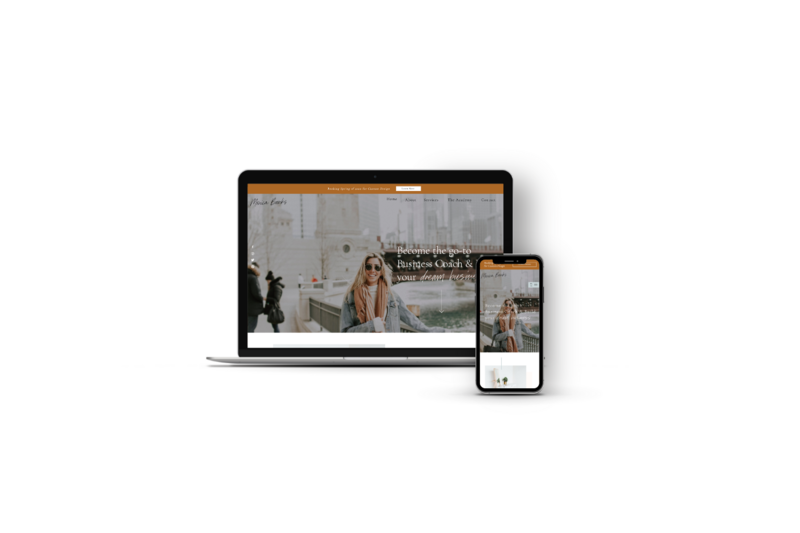 Showit Website Template for Business Coaches, Energy Healers and Online Coaches