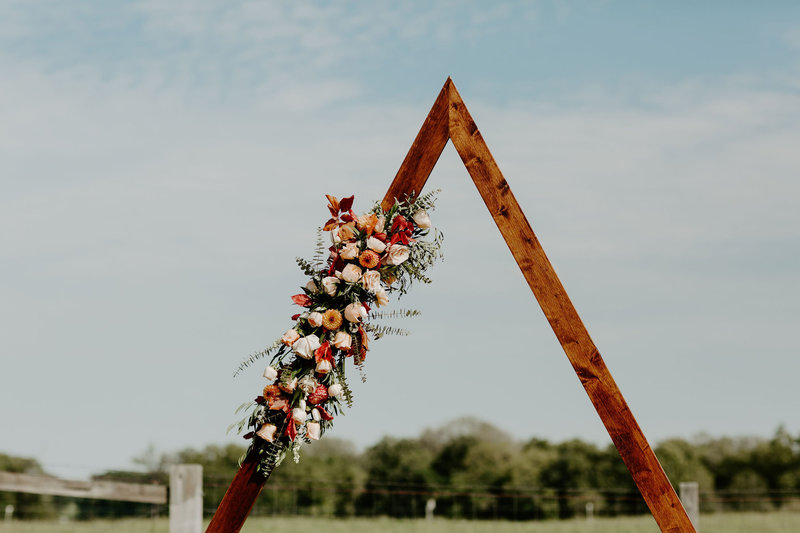 Wooden Wedding Triangle Backdrop