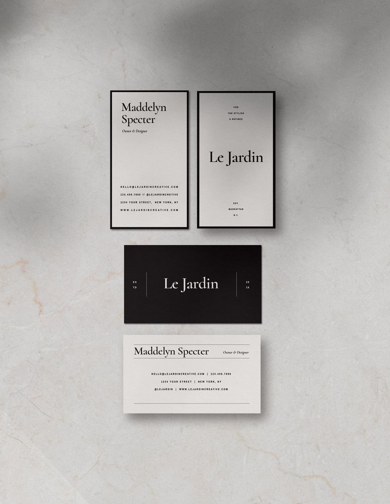 Customizable-Stylish-BusinessCard-Design-Jardin-SaffronAvenue1