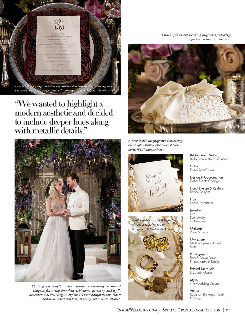 Inside Wedding Fall 2017 - Stylized Shoot - 2