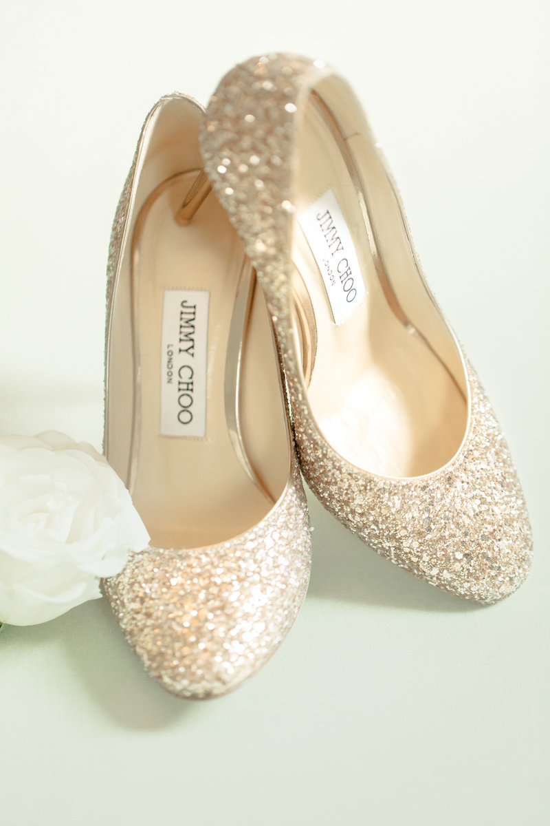 Jimmy Choo gold shoes