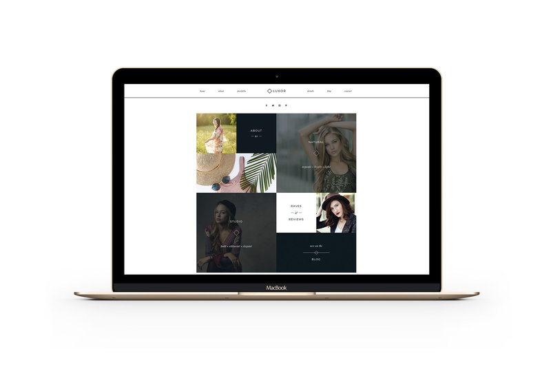 Feminine easy to customize drag and drop website templates for creatives