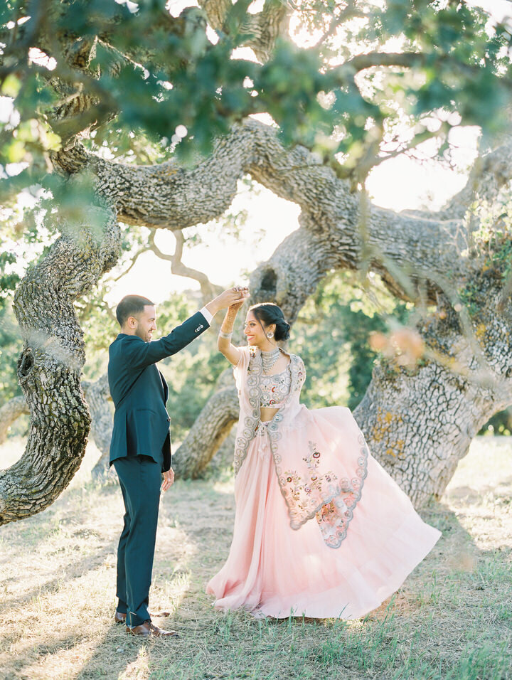 holman ranch oak tree wedding portraits