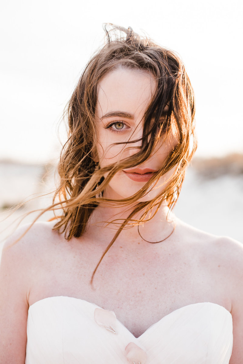 Boho fine art bridal inspiration at Assateague Island, Maryalnd Megan Harris Photography
