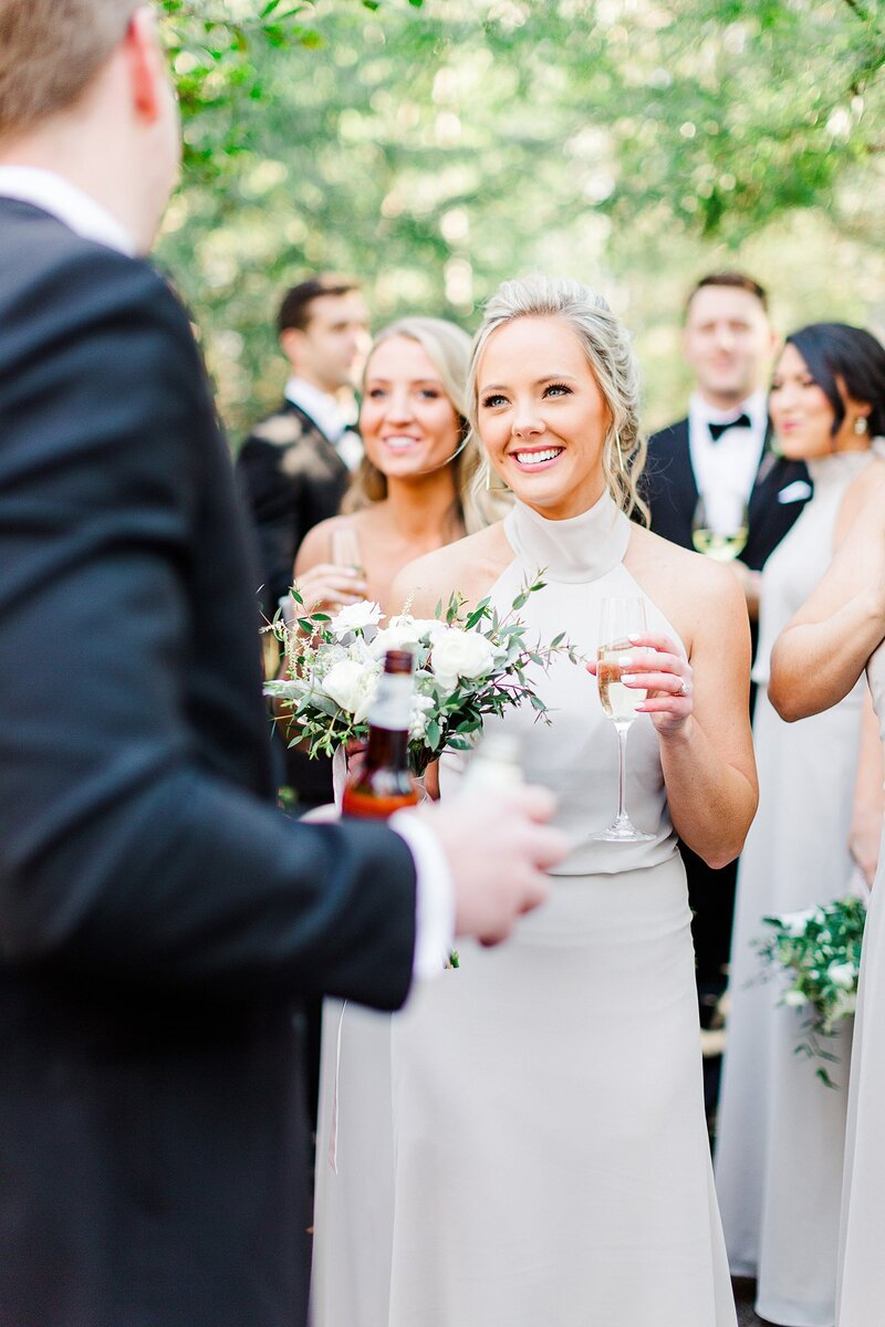 champagne toast by Knoxville Wedding Photographer, Amanda May Photos