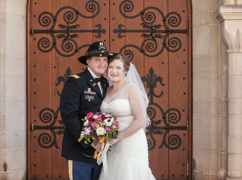 Shove-Memorial-Chapel-Colorado-Springs-Ornate-Door-Backdrop