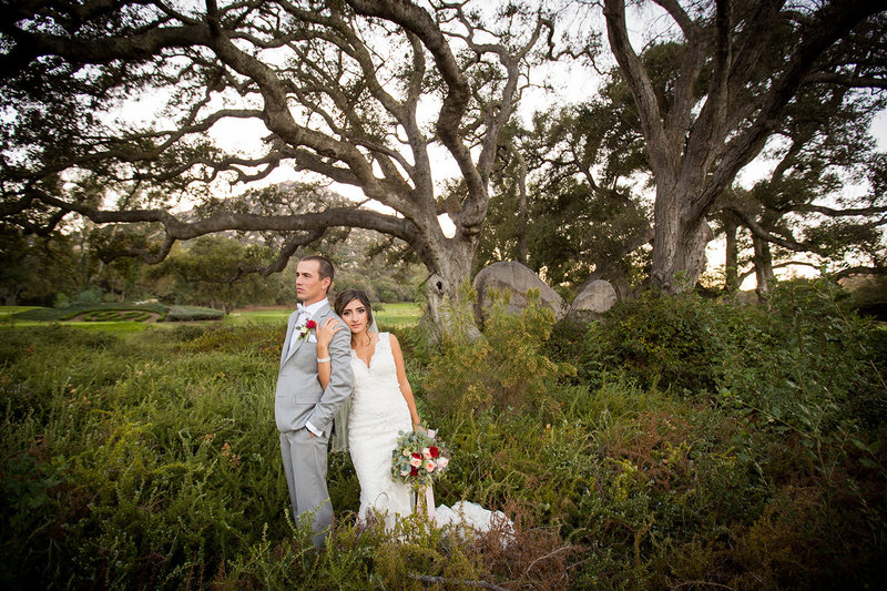 Mt Woodson wedding photos rustic open field
