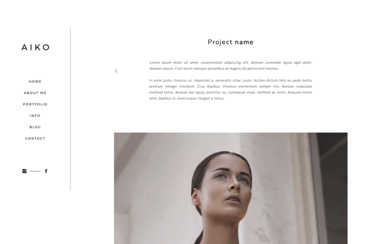 Showit theme for designers and creatives - mininalistic, strong and female 06
