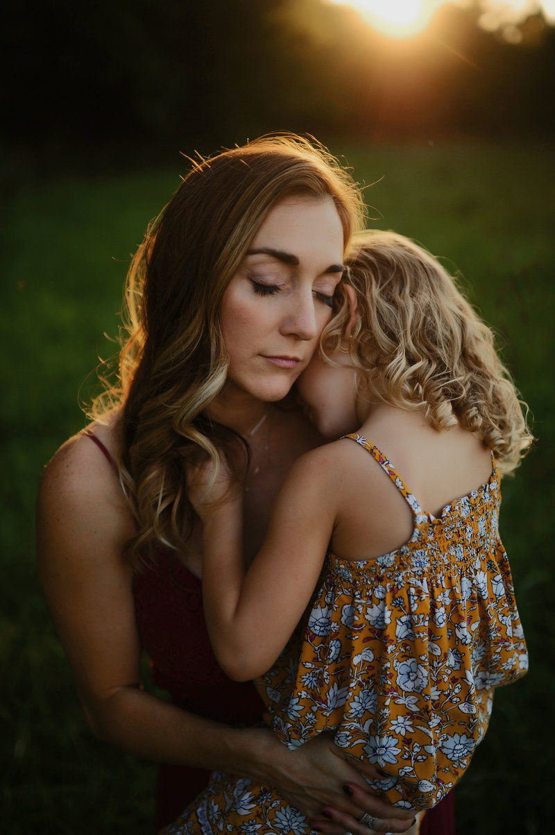 Mother Daughter Sunset Photo