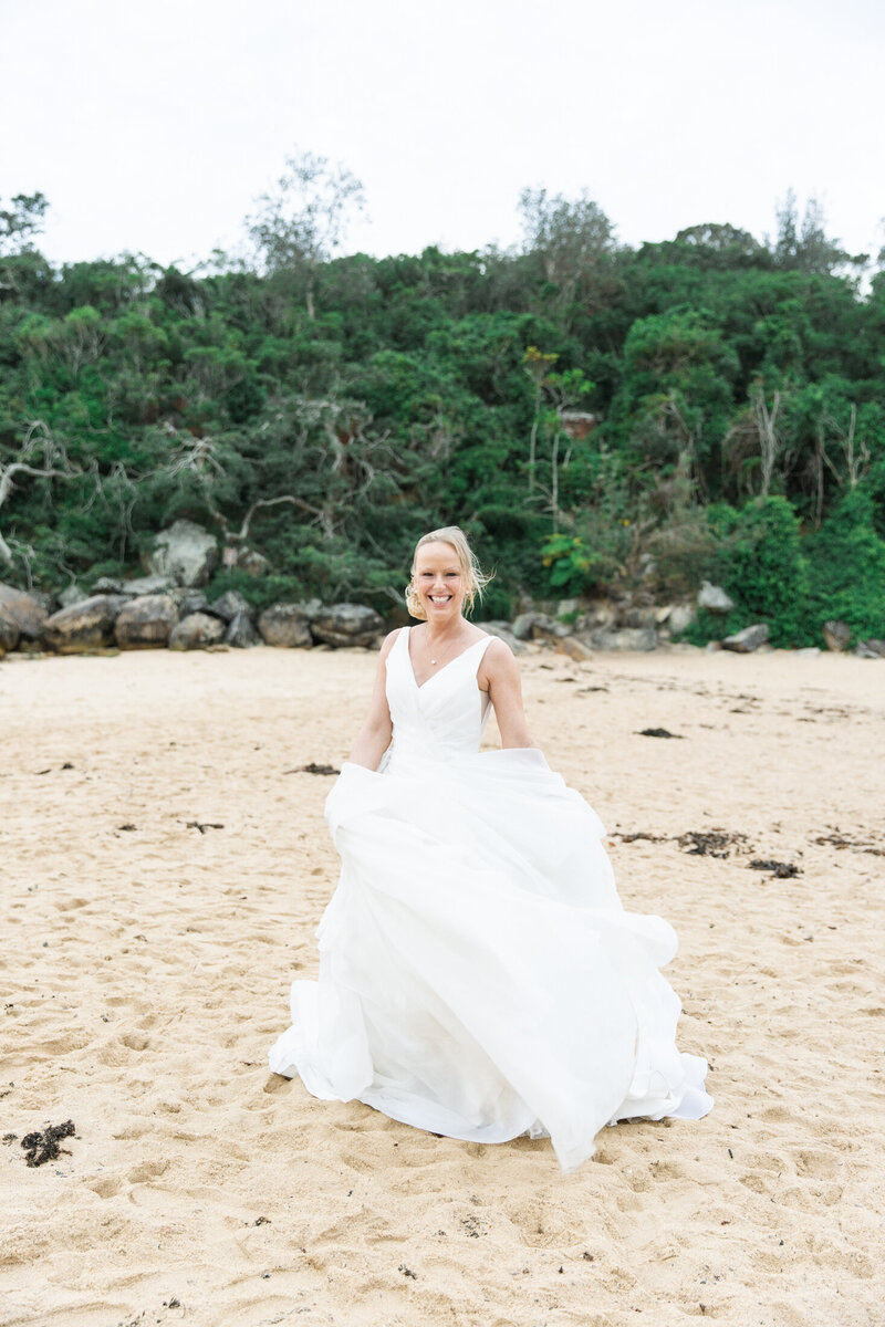 The Boathouse Shelly Beach, Manly Fine Art Film Elopement Wedding Photographer Sheri McMahon --00082