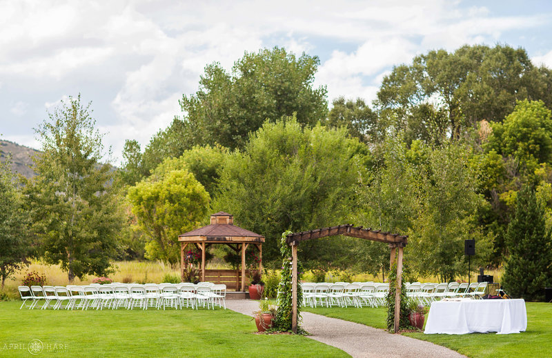Wedding-Ceremony-Set-up-on-Lawn-at-Denver-Botanic-Gardens-Chatfield-Farms