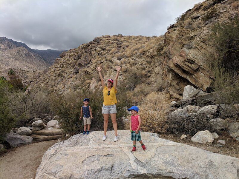 Heather Dileepan with her family in Palm Springs