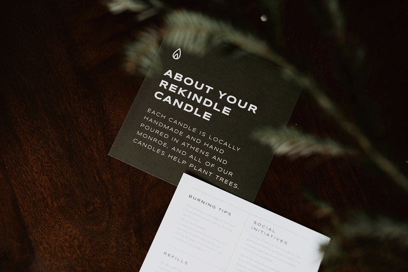 Flyer Collateral for Rekindle Candle Co