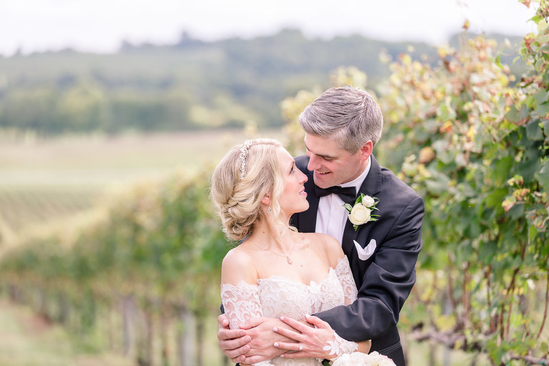Wedding couple at Trump Winery, Virginia