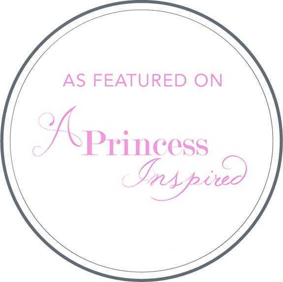 A Princess Inspired Featured Wedding Badge
