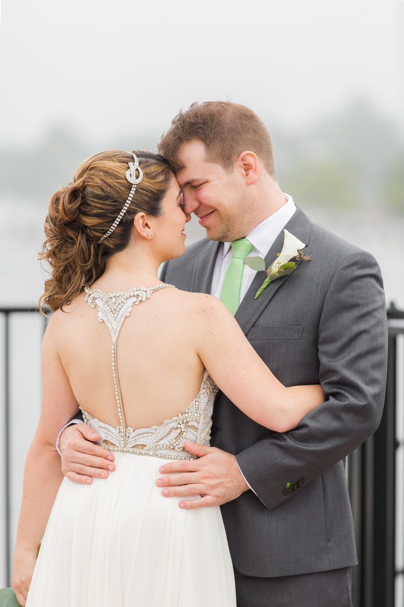 Intimate bride and groom photo of Red Bank NJ Wedding