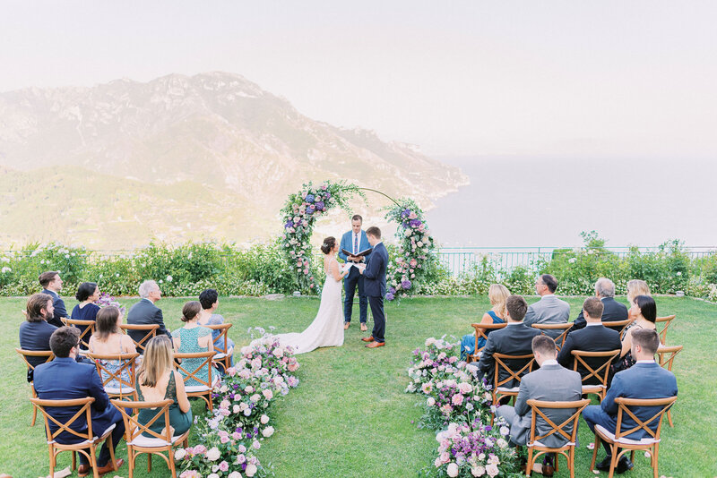 wedding in Belmond Hotel Caruso Ravello Italy