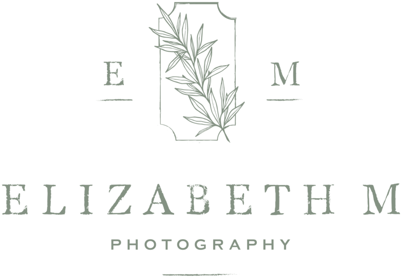 Elizabeth M Photography - Custom Brand and Showit Web Design Website by With Grace and Gold - 1