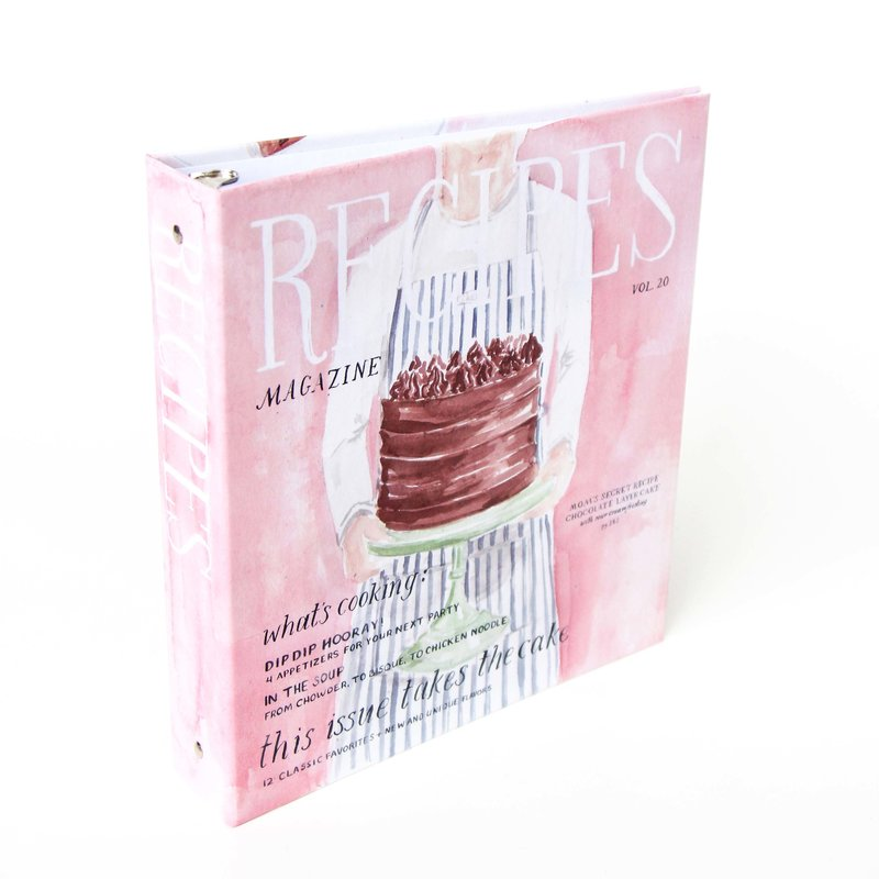 layer cake magazine recipe binder the illustrated life cover and spine