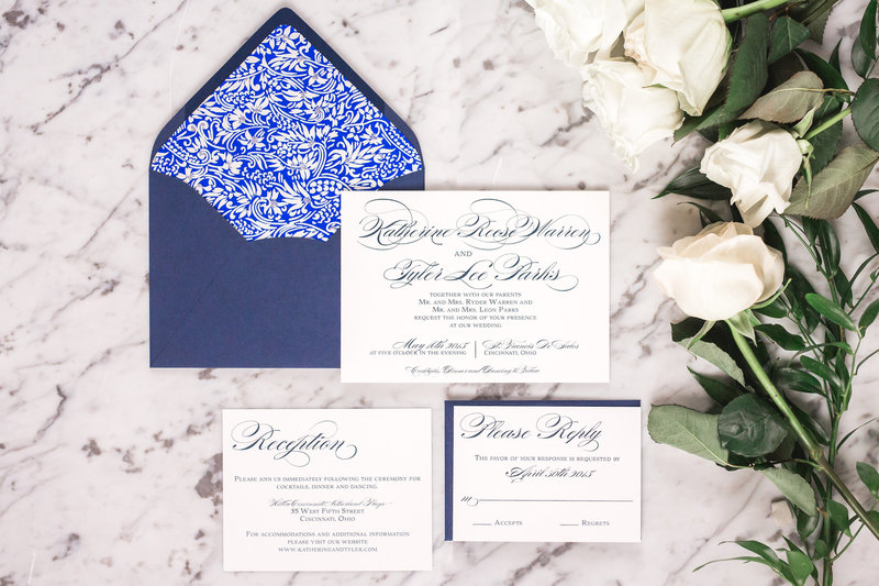 Reese Traditional Script Wedding Invitation