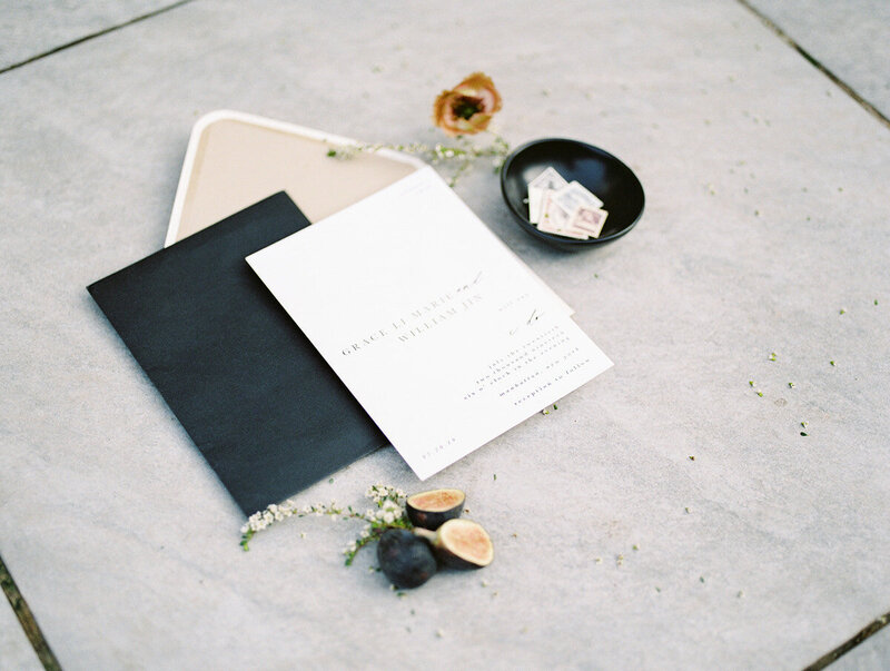 Black and White Invitation with Figs