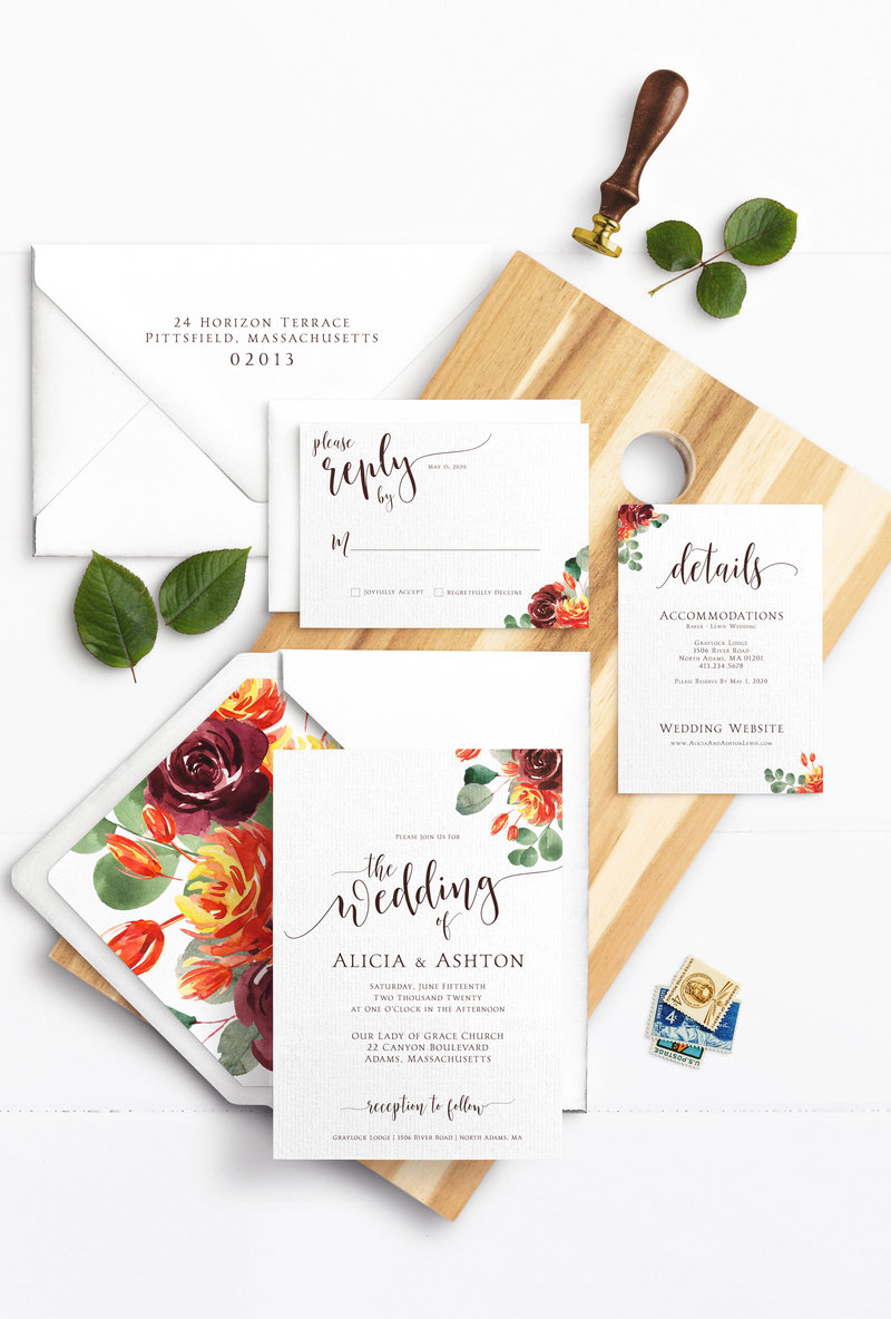 5pcFallFloralInvitationSuite copy