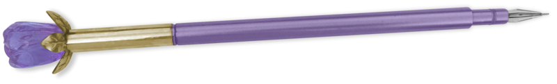 pen crystal flower purple