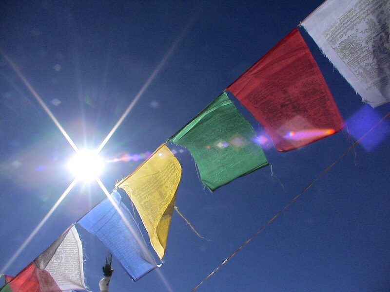 Sun and Prayer flags Harry Farthing header