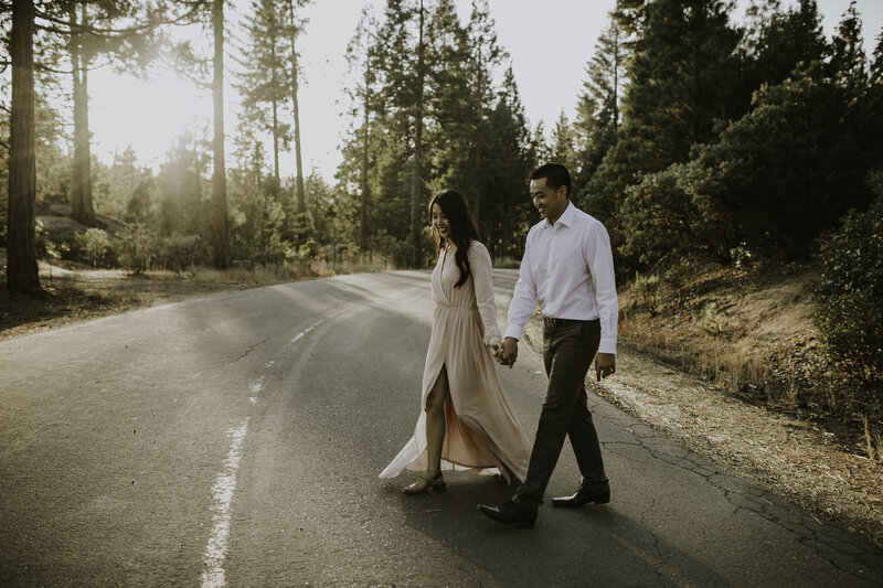 shaver lake engagement session California mountain wedding photographer
