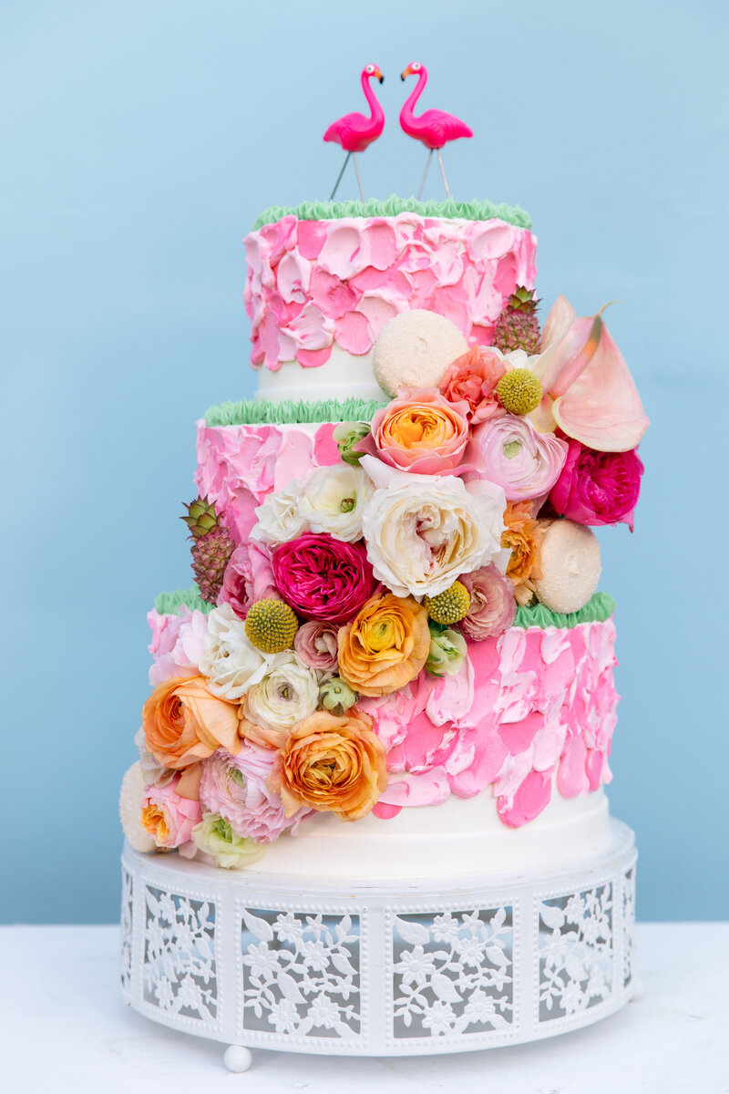 Flamingo Wedding Cake